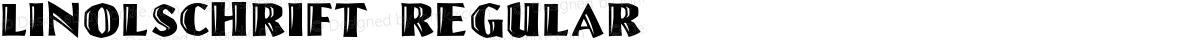 Linolschrift Regular