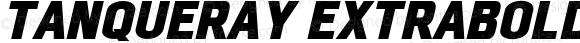Tanqueray ExtraBold Italic