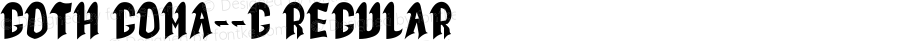 Goth Goma__G Regular Ver.1 Gomarice Font  2006/04/08