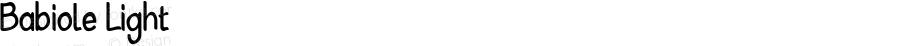 Babiole Light Fontographer 4.7 3/01/12 FG4M0000002045
