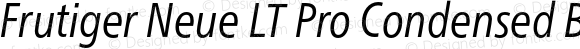 Frutiger Neue LT Pro Condensed Book Italic