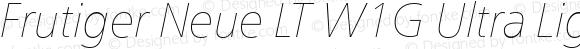 Frutiger Neue LT W1G Ultra Light Italic