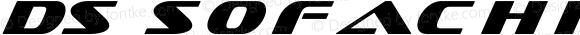 DS Sofachrome Italic Version 1.0; 2000; initial release