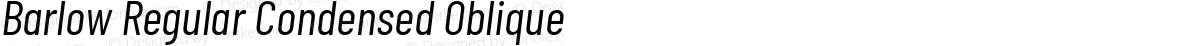 Barlow Regular Condensed Oblique