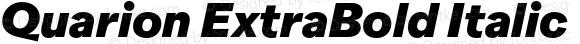 Quarion ExtraBold Italic