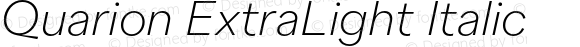 Quarion ExtraLight Italic