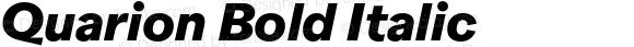 Quarion Bold Italic