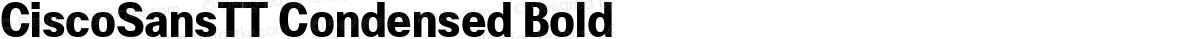 CiscoSansTT Condensed Bold