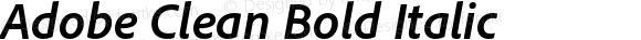Adobe Clean Bold Italic
