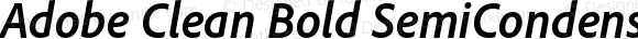 Adobe Clean Bold SemiCondensed Italic