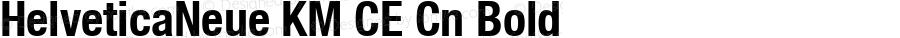 HelveticaNeue KM CE Cn Bold Version 6.1; 2002