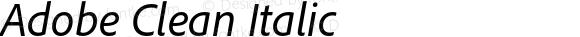 Adobe Clean Italic