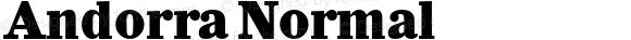 Andorra Normal Macromedia Fontographer 4.1 17.06.1995