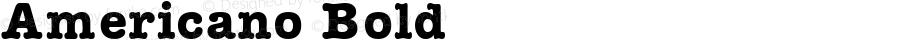 Americano Bold Macromedia Fontographer 4.1 17.06.1995