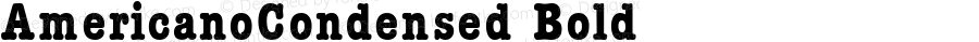 AmericanoCondensed Bold Macromedia Fontographer 4.1 17.06.1995
