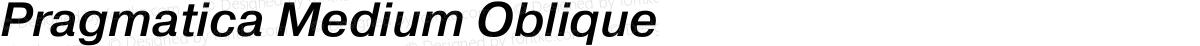 Pragmatica Medium Oblique
