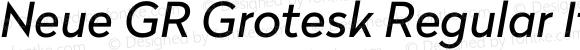 Neue GR Grotesk Regular Italic