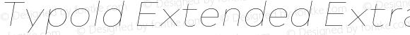 Typold Extended ExtraThin Italic