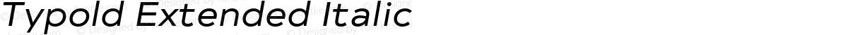 Typold Extended Italic