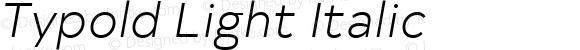 Typold Light Italic