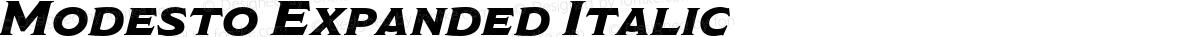 Modesto Expanded Italic