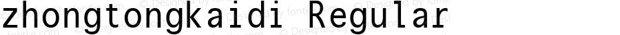 zhongtongkaidi Regular Version 1.00 November 22, 2014, initial release
