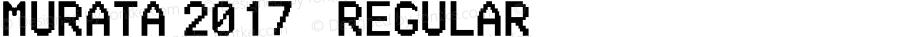MURATA 2017 调 Regular Version 1.00 June 13, 2017, initial release