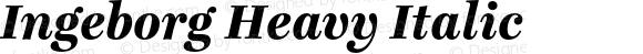 Ingeborg Heavy Italic