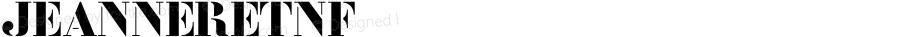 JeanneretNF ☞ Version 001.001;com.myfonts.nicksfonts.jeanneret-nf.jeanneret-nf.wfkit2.3yia