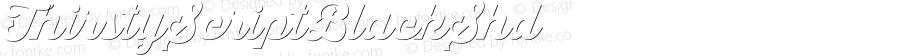 ThirstyScriptBlackShd ☞ Version 1.001;com.myfonts.yellow-design.thirsty-script.black-122030.wfkit2.46Ey
