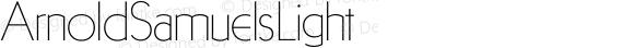 ArnoldSamuelsLight ☞ Version 1.002;com.myfonts.samuelstype.arnold-samuels.light.wfkit2.32RS