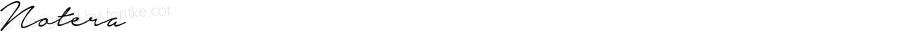 Notera ☞ Version 1.000;com.myfonts.mawns.notera.regular.wfkit2.46Pv