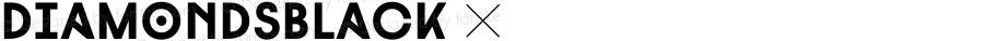 DiamondsBlack ☞ Version 1.000;com.myfonts.hvdfonts.diamonds.black.wfkit2.3TpT