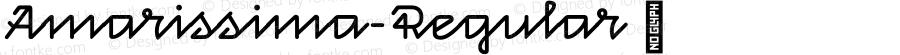 Amarissima-Regular ☞ Version 1.001;com.myfonts.easy.vasava-fonts.amarissima.regular.wfkit2.version.4tpd