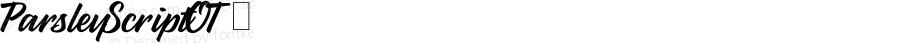 ParsleyScriptOT ☞ Version 1.000;com.myfonts.bluevinyl.parsley-script.regular.wfkit2.3nbe