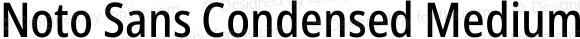 Noto Sans Condensed Medium