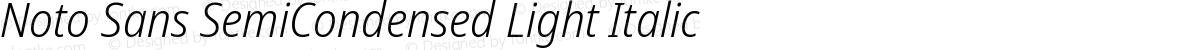 Noto Sans SemiCondensed Light Italic