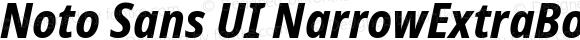 Noto Sans UI NarrowExtraBold Italic