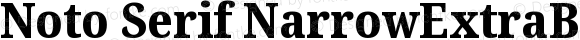 Noto Serif NarrowExtraBold