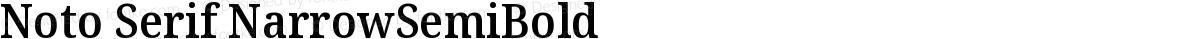 Noto Serif NarrowSemiBold
