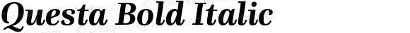 Questa Bold Italic
