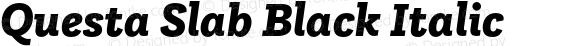 Questa Slab Black Italic