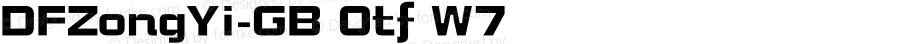 DFZongYi-GB Otf W7