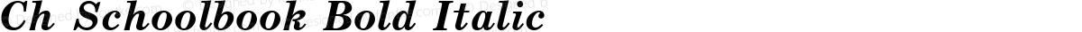 Ch Schoolbook Bold Italic