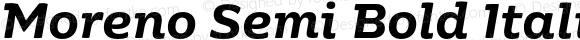 Moreno Semi Bold Italic