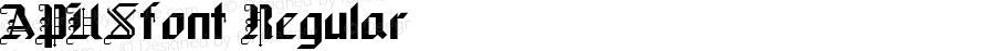 APUSfont Regular Altsys Fontographer 3.5  3/28/01