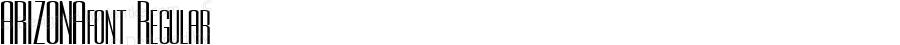 ARIZONAfont Regular Altsys Fontographer 3.5  3/30/01