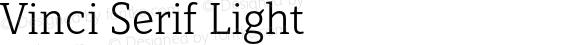 Vinci Serif Light