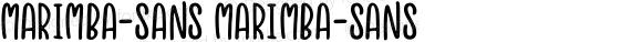 marimba-sans marimba-sans Version 1.0