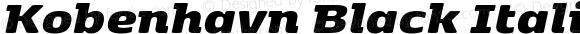 Kobenhavn Black Italic